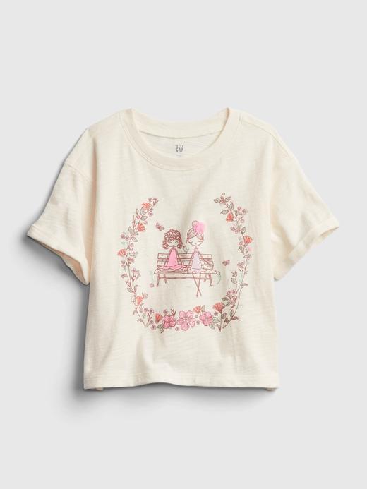 Kız Bebek Sarı Grafik T-Shirt
