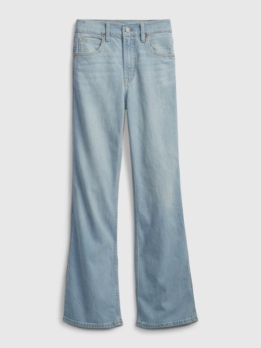 Kadın Mavi High Rise Vintage Jean Pantolon