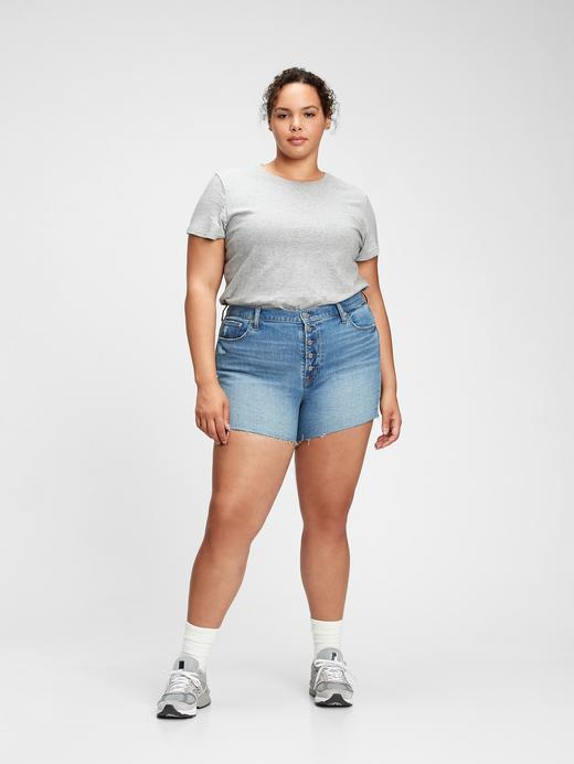 Kadın Gri Organik Pamuklu Vintage T-Shirt