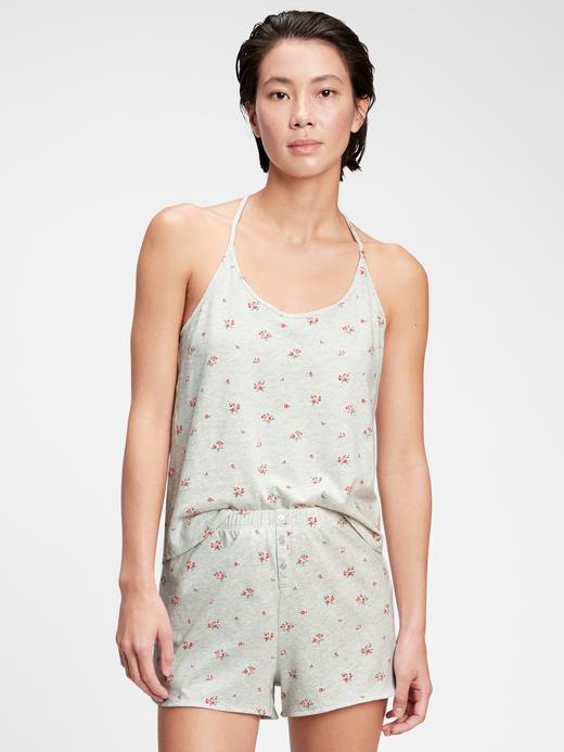 Kadın Gri %100 Organik Pamuklu Pijama Üstü