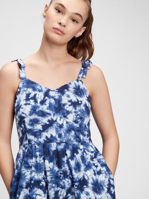 Kadın Mavi V Yaka Midi Elbise