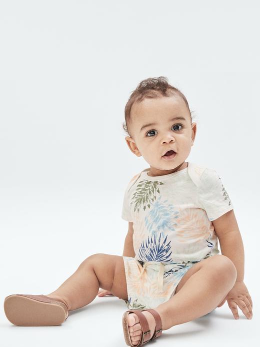 Erkek Bebek Lacivert Organik Pamuklu Şort