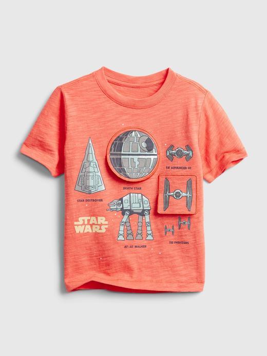 Erkek Bebek Turuncu Star Wars Flippy Grafik T-Shirt