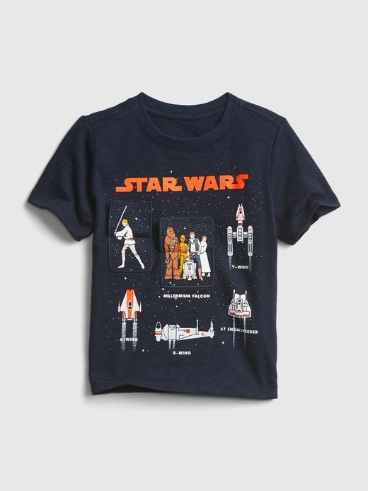 Erkek Bebek Lacivert Star Wars Flippy Grafik T-Shirt