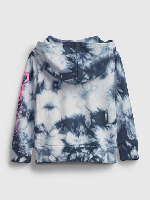 Kız Bebek Mavi Gap Logo Tie-Dye Kapüşonlu Sweatshirt
