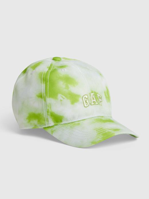 Erkek Çocuk Yeşil Gap Logo Tie-Dye Şapka
