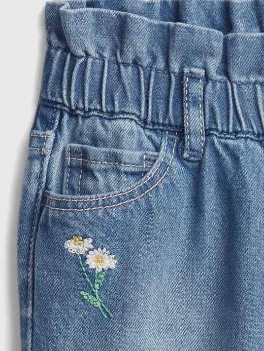 Kız Bebek mavi Pull On Mom Jeans Washwell