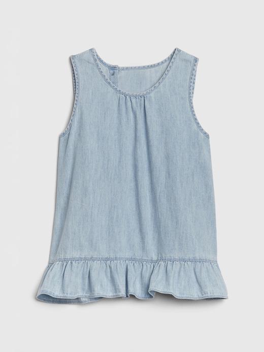 Kız Çocuk Mavi Denim Bluz