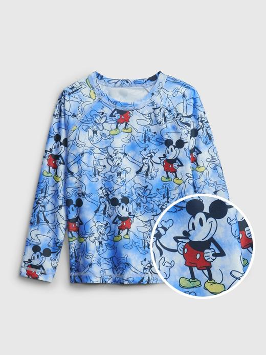 Erkek Bebek Mavi Disney Mickey Mouse Desenli T-Shirt