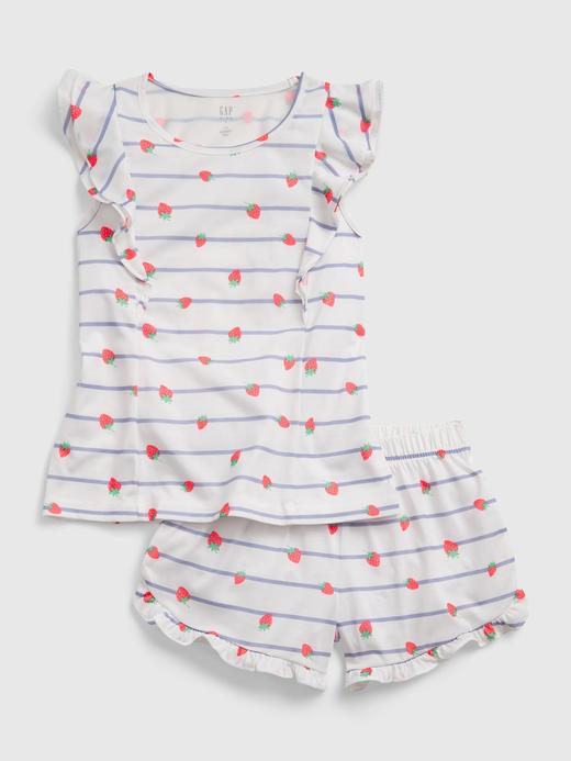 Kız Çocuk Mavi Pijama Takımı