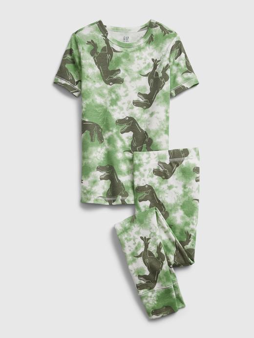 Erkek Çocuk Yeşil %100 Organik Pamuk Pijama Takımı
