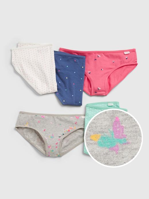 Kız Çocuk çok renkli 100% Organik Pamuk Bikini Külot (5-Adet)