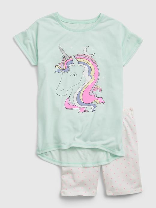 Kız Çocuk Yeşil Unicorn Pijama Takımı