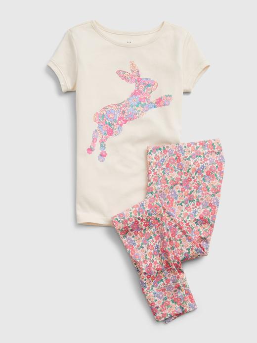 Kız Çocuk Çok Renkli %100 Organik Pamuk Pijama Takımı