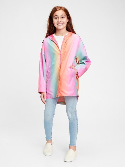 Kız Çocuk Çok Renkli Yağmurluk