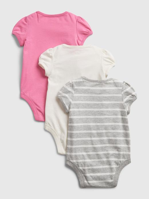 Kız Bebek Çok Renkli 3'lü Body Seti