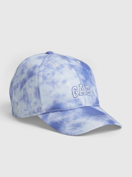 Erkek Çocuk Mavi Gap Logo Tie-Dye Şapka