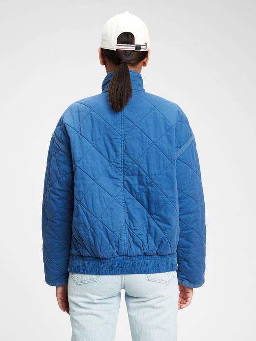 Kadın Turuncu Kapitone Ceket
