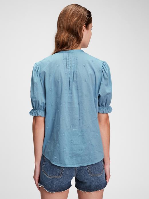 Kadın Beyaz Fırfır Detaylı Bluz
