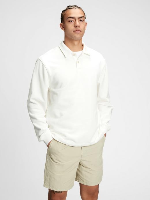 Erkek Beyaz French Terry Polo Shirt