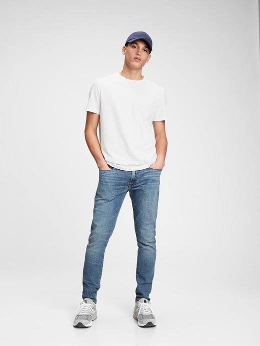Erkek Mavi GapFlex Skinny Jean