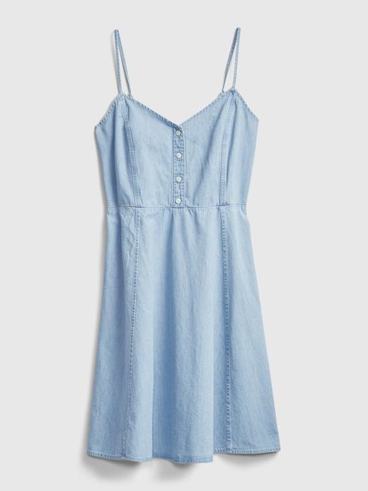Kadın açık renk yıkama Fit & Flare Elbise