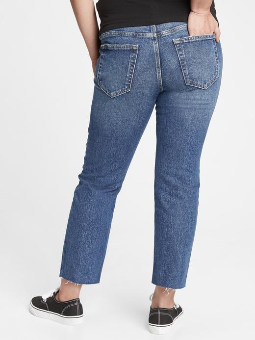 Lacivert Maternity Straight Jean Pantolon