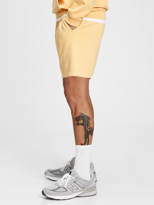 Erkek Sarı French Terry Şort