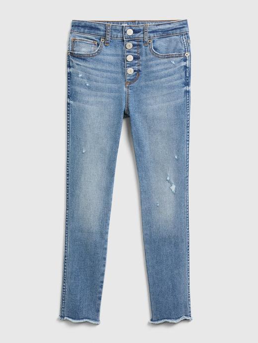 Kız Çocuk Mavi High Rise Jeggings Pantolon