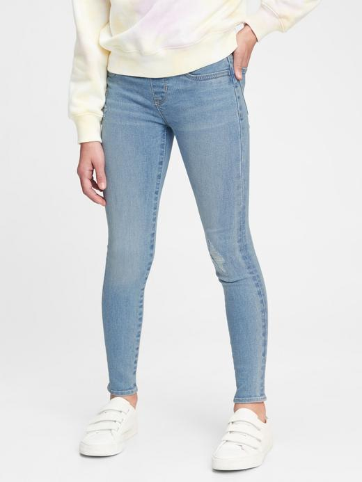 Kız Çocuk Mavi Pull-On Jegging Pantolon