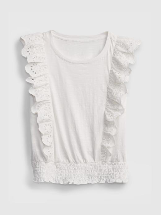 Kız Çocuk Beyaz Fırfır Detaylı Bluz