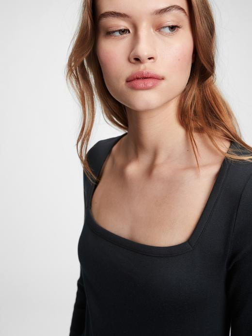 Kadın Siyah Yuvarlak Yaka Midi Elbise
