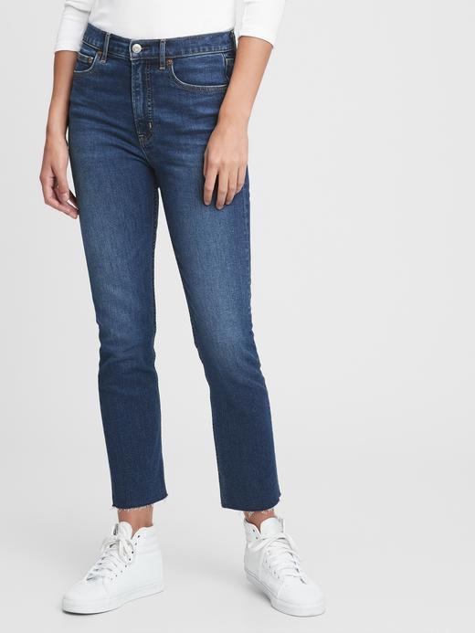 Kadın Lacivert High Rise Cigarette Jean Pantolon