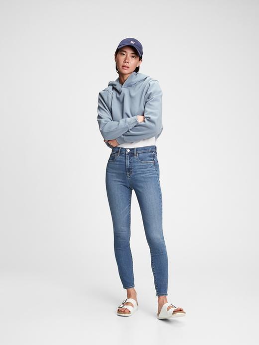 Kadın Mavi High Rise Skinny Jean Pantolon
