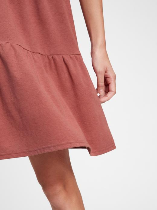 Kadın Pembe Tiered Elbise