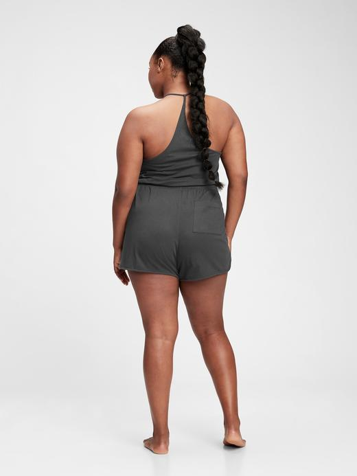Kadın Gri Organik Pamuklu Pull-On  Şort