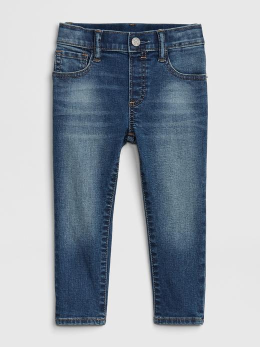 Erkek Bebek Mavi Pull-On Slim Jean Pantolon
