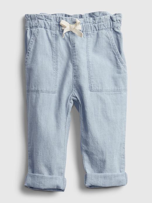 Kız Bebek orta yıkama Pull-On Jean Pantolon