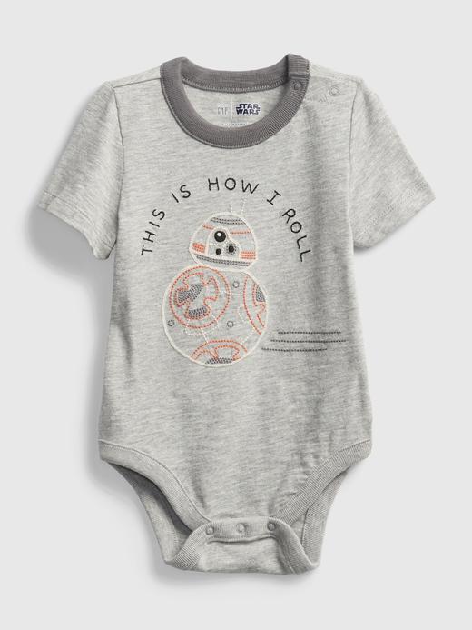 Erkek Bebek kırçıllı açık gri Star Wars™  Bodysuit