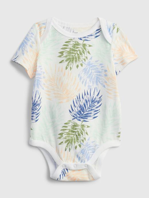 Erkek Bebek Yeşil Organik Pamuklu Body