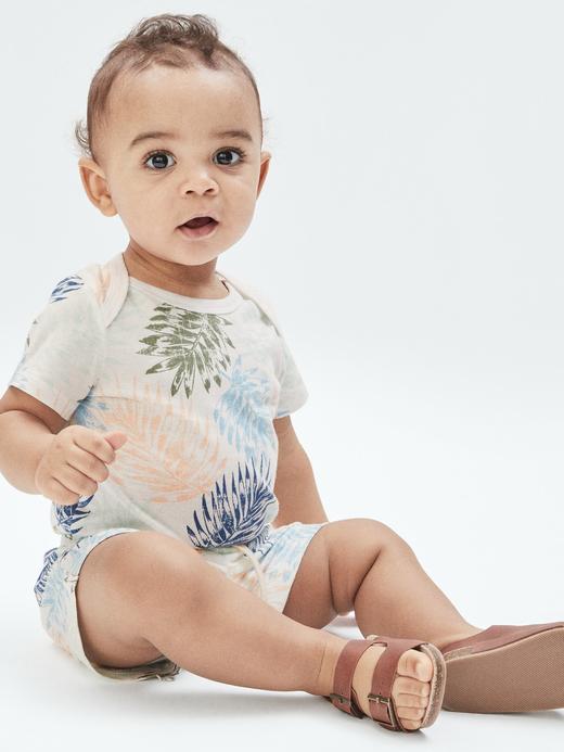 Erkek Bebek Çok Renkli Organik Pamuklu Body
