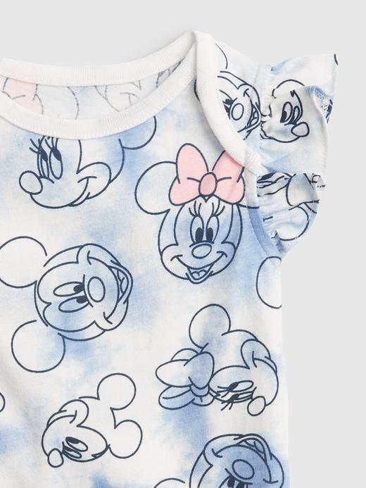 Kız Bebek kırık beyaz Disney Mickey Mouse 100% Organik Pamuk Bodysuit