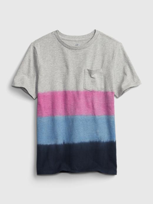 Erkek Çocuk Pembe Dip-Dye T-Shirt