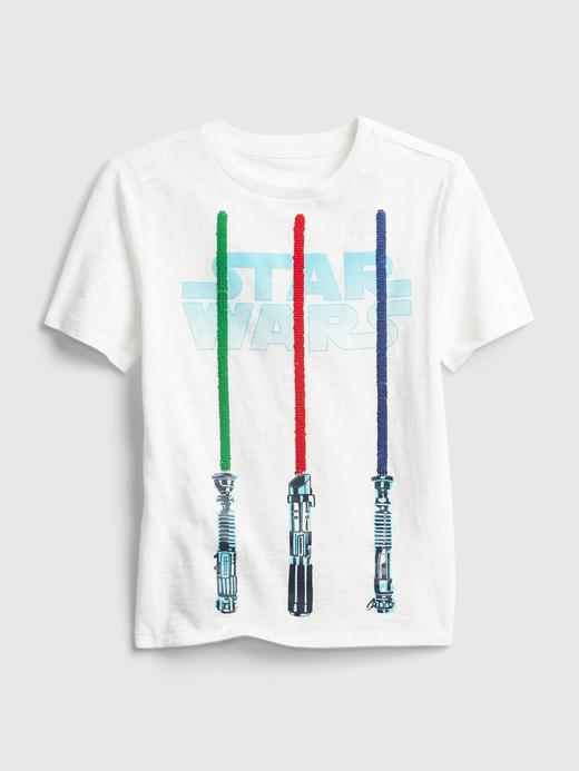 Erkek Çocuk Beyaz Star Wars™ İnteraktif Grafik T-Shirt