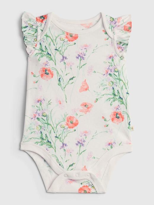 Kız Bebek beyaz %100 Organik Pamuk Body