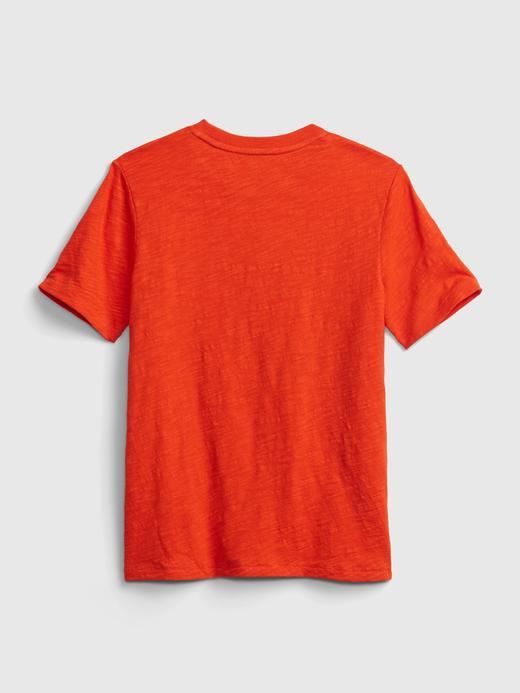 Erkek Çocuk Turuncu Grafik T-Shirt