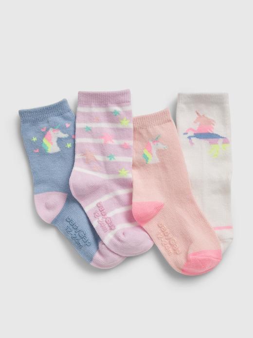 Bebek Çok renkli Unicorn 4'lü çorap seti