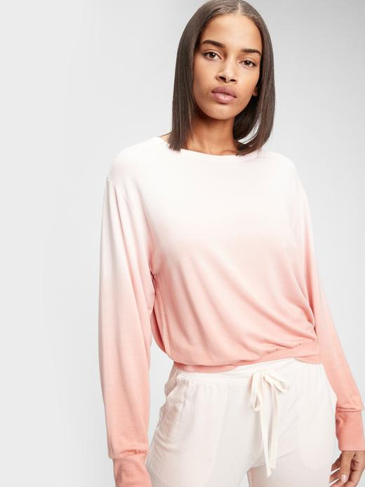 Kadın pembe Modal Karışımlı Supersoft Pijama Üstü
