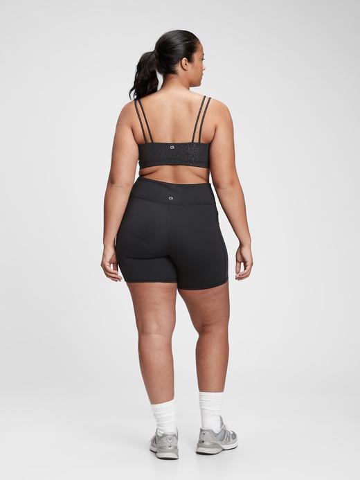 Kadın Kahverengi GapFit Kadın Çift Askılı Sporcu Sütyeni