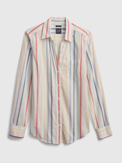 Kadın Çok Renkli Uzun Kollu Gömlek